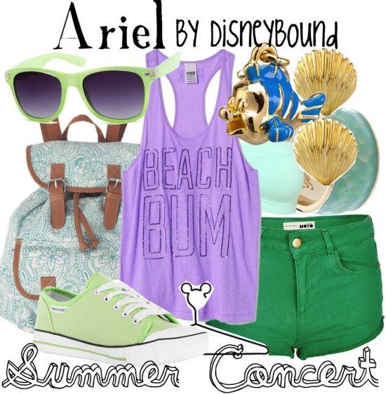 summer concert | Disney Bound Ariel