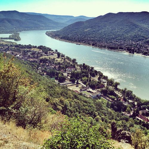 View on the Danube Bend from the Visegrad Castle
