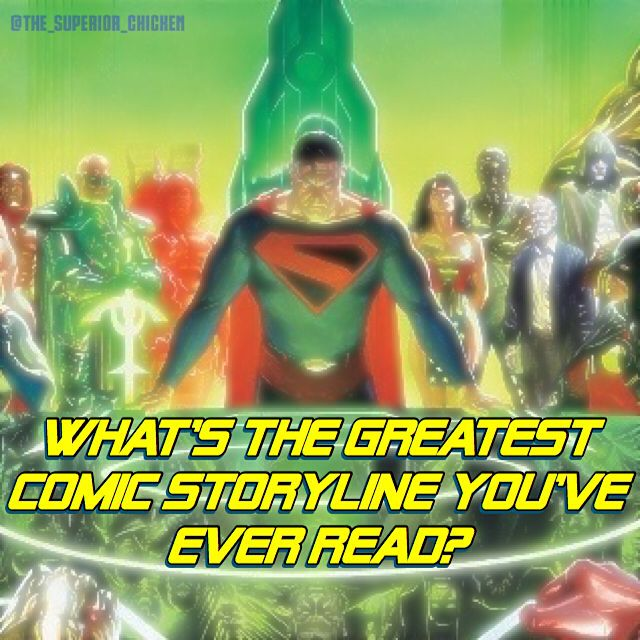 What's the greatest comic storyline you've ever read?  #justiceleague #batman #superman #dc #dccomics #marvel #marvelcomics #spiderman #deadpool #comics #comicbooks #comicbookmemes #comicbookmovies #batmanvsuperman #meme #dank #funny #doctorwho #starwars #anime #cosplay #gaming #rickandmorty #theflash #thejoker #kingdomcome #dope #galgadot #avengers #xmen