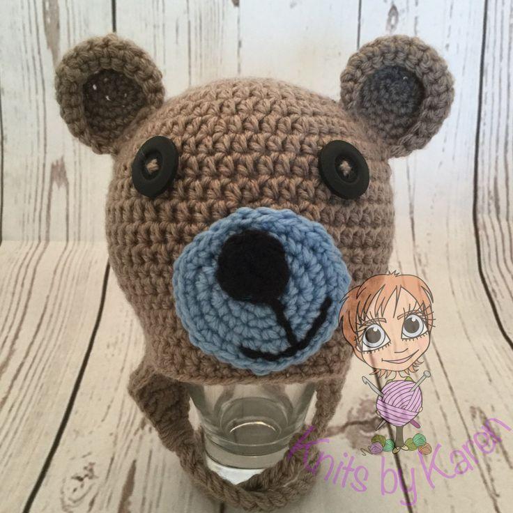 Teddy Bear Hat for Newborn Baby Boy