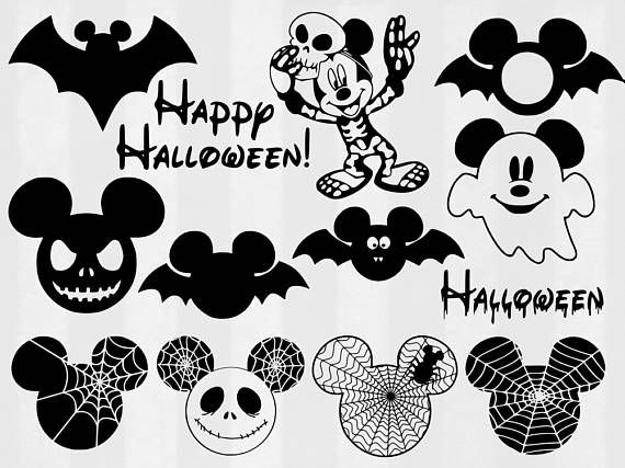Mickey Halloween SVG Bundle Halloween clipart Disney cut