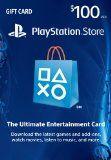#10: $100 PlayStation Store Gift Card - PS3/ PS4/ PS Vita [Digital Code]