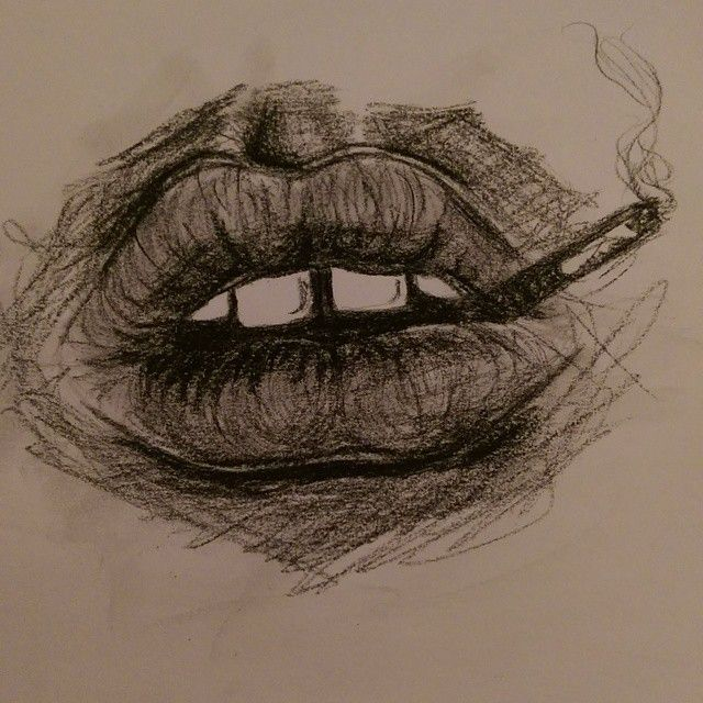 "Done ! <span class=""emoji emoji1f60a""></span> #drawing #lips #mouth…"
