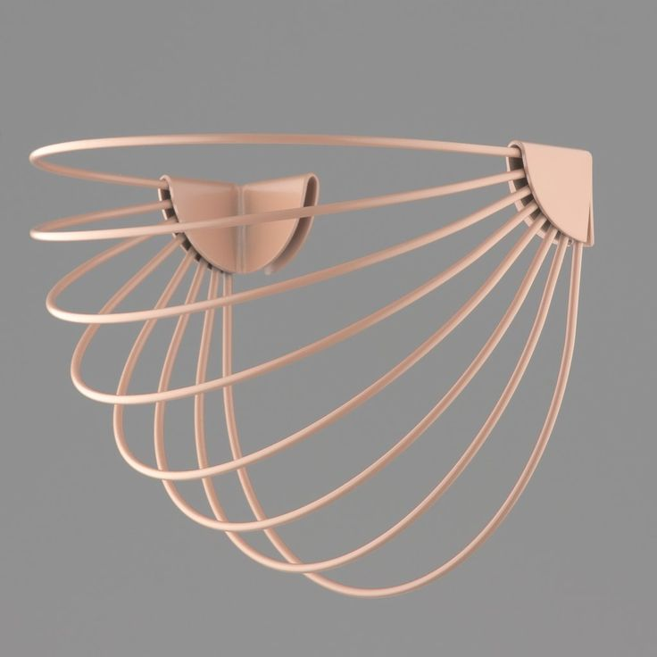Wallment Baskette wall basket in Nude. Powder painted metal. Finnish Design.