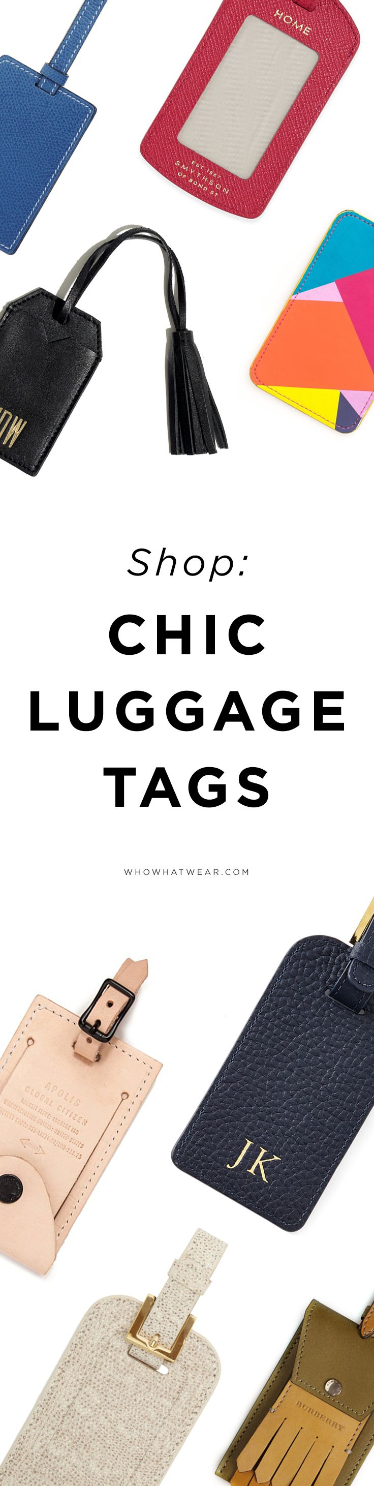 Shop chic luggage tags