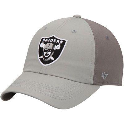 Oakland Raiders Northside Clean Up Adjustable Hat - Gray/Dark Gray