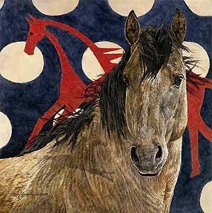 The Horse Tipi - Judy Larson - World-Wide-Art.com - $255.00 #JudyLarson #Horses