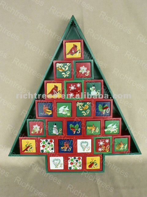 Wood Christmas Trees Wooden Christmas Tree Advent