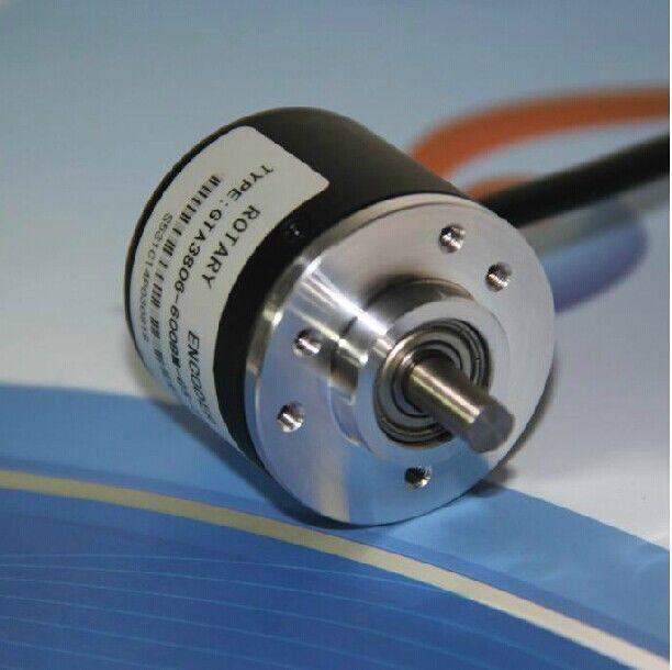 600P//R DC 5-24V Photoelectric Incremental Rotary Encoder AB 2-Phases 6mm Shaft