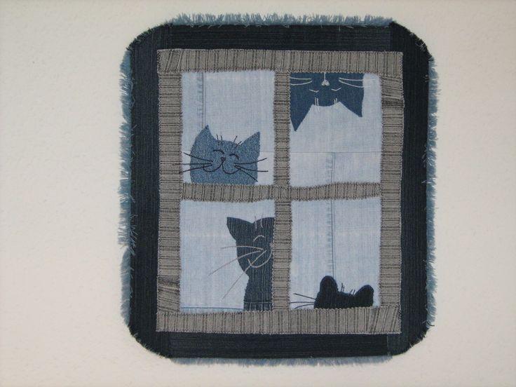 cicák az ablakban - falikép