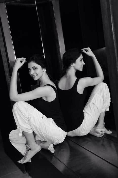 Deepika Padukone Black and White
