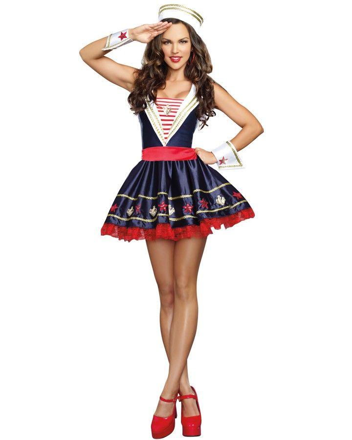 shore thing sailor womens costume - Oprah Winfrey Halloween Costume