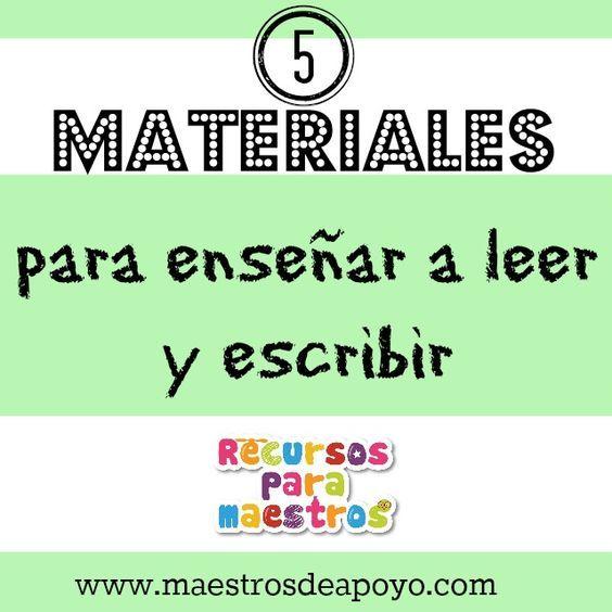 Los mejores 5 materiales para enseñar a leer y escribir | Recursos para maestros de apoyol: