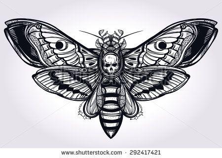 death's head moth tattoo - Google Search