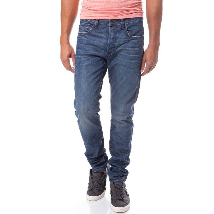 G-STAR RAW - Ανδρικό τζιν παντελόνι G-Star Raw 3301 μπλε | παντελονια τζιν ανδρικα προσφορες, προσφορες τζιν, τζιν G-STAR RAW φθηνα, τζιν παντελονια ανδρικα G-STAR RAW