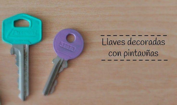 ¡Así de fácil es decorar tus llaves!