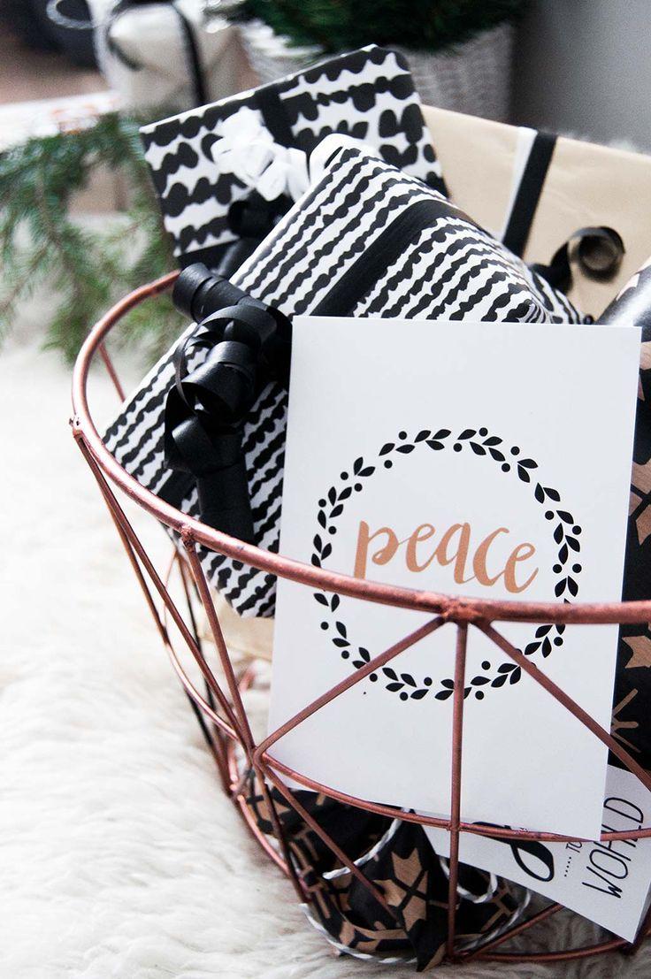 peace rauha joulukortti christmas card