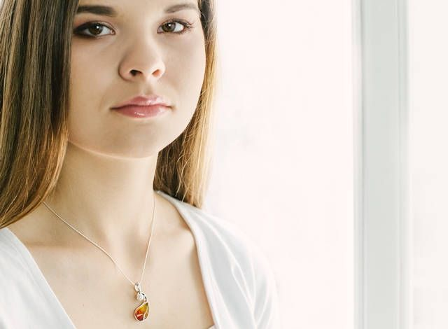 Pearl Amber Pendant, Amber and Pearl Necklace, Natural Amber Jewelry, Pearl Necklace, Amber Gift by KARUBA on Etsy