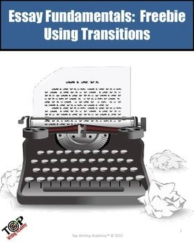 Transtions are a crucial part of writing an effective essay. This free lesson provides list of transition words to use in a variety of circumstances and facilitated activities to help students create smooth transtions within paragraphs and between paragraphs.