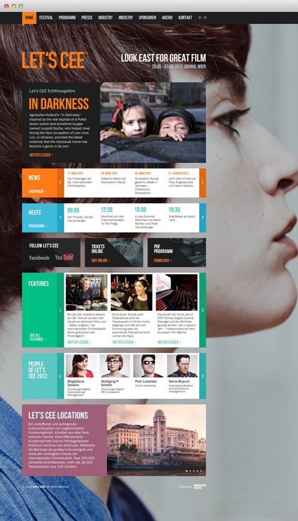 Let's CEE Film Festival by Michal Duszczyk, via Behance