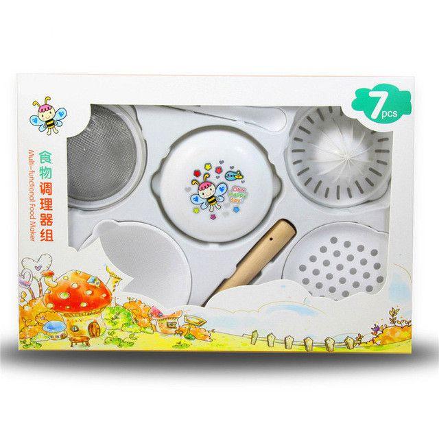 7Pcs/Set Baby Food Grinder 2016 New Design Babies Food Mills Tools For Fruit Prato infantil Robot de cocina Food Press Machine