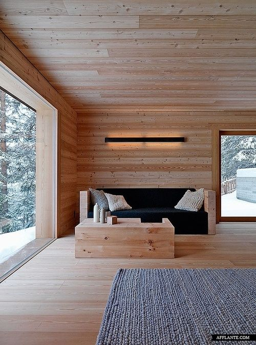 Living Room At The Cabin in Fanes-Sennes-Braies, Italy | Architect: EM2