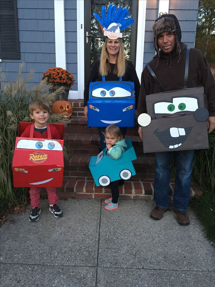 Lightening McQueen, Tow Mater, + Cars costumes