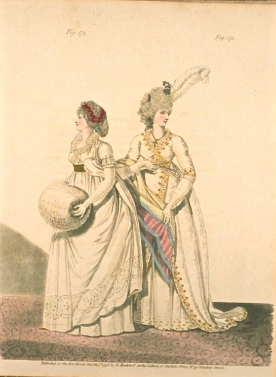 Afternoon Dresses, March 1798, Gallery of Fashion