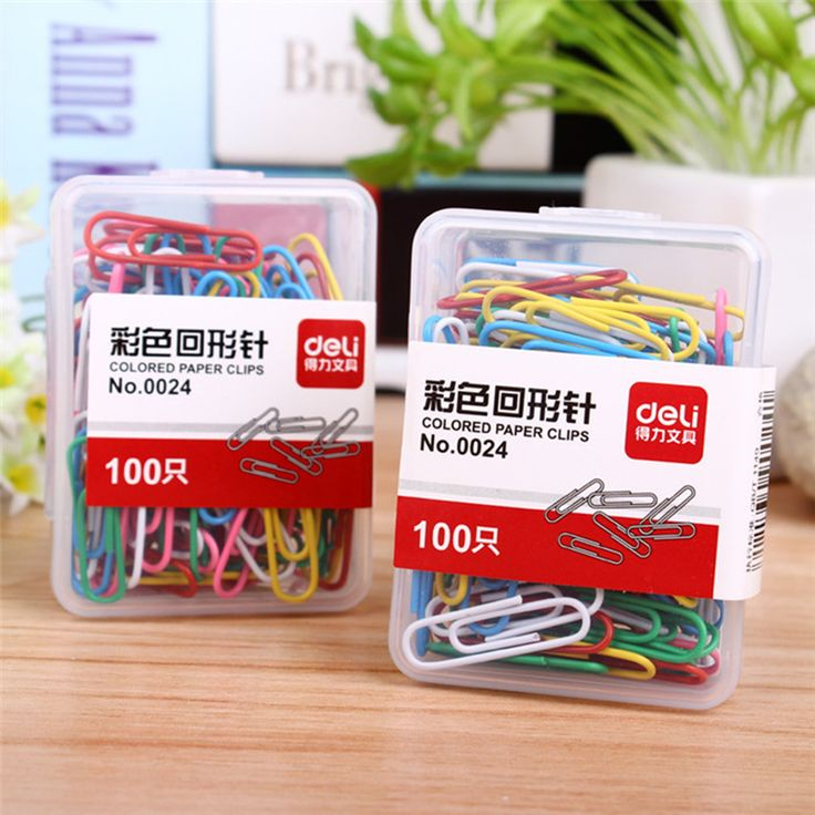 X100 STKS Deli Mini Metalen Bindmiddel Papier Klembord Clips Paperclips school Kantoor Accessoires Organizer