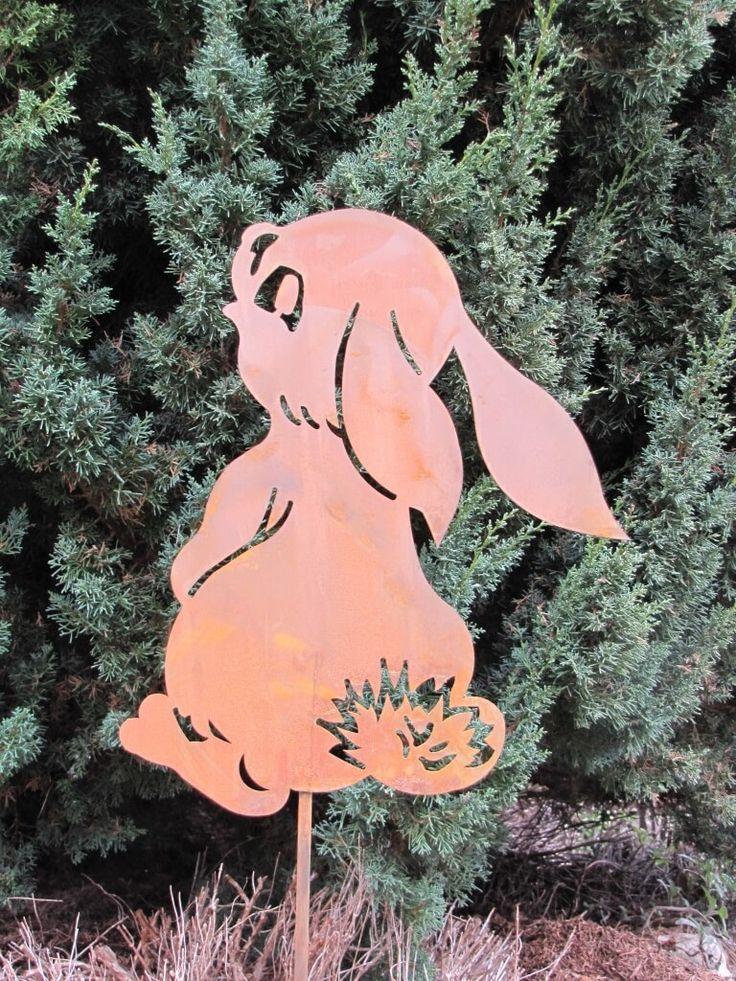 Edelrost Gartenstab Hase  Verschmitzt dreht uns der Hase sein Hinterteil zu.  Der Edelrost Gartenstecker Hase ist nicht nur zu Ostern eine tolle Gartendekoration, er versprüht das ganze Jahr seinen niedlichen Charme.  Größe:        Höhe: 97 cm     Breite: 24 cm  Preis: 17,- €