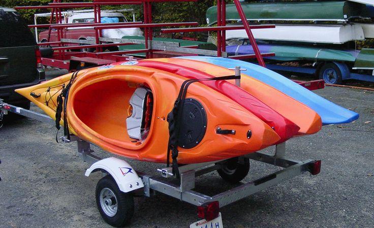 Kayak Trailer Rack Single Tier 4 Kayaks- Rack-kayak-4 | Kayaks ...