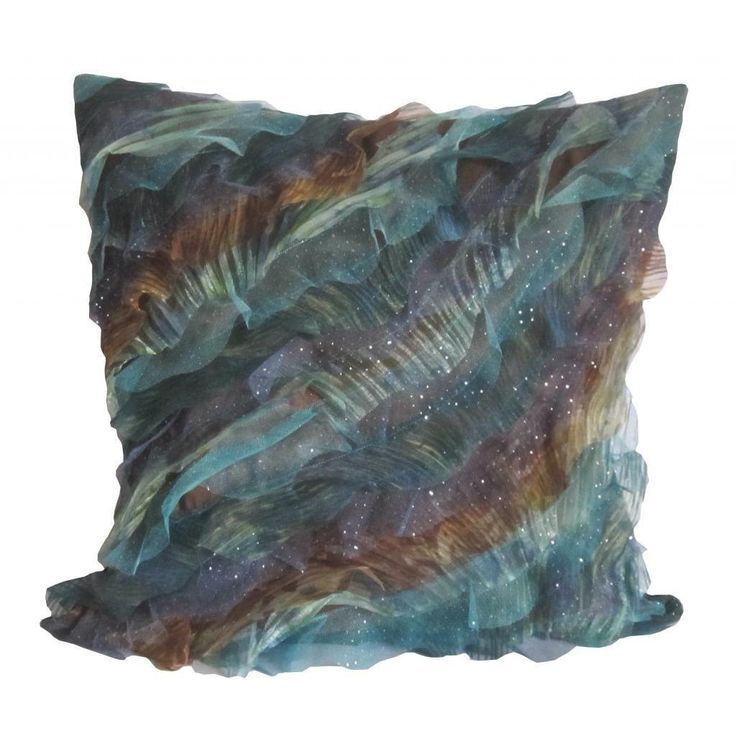 Debage Breezy Wave and Brown Throw Pillow