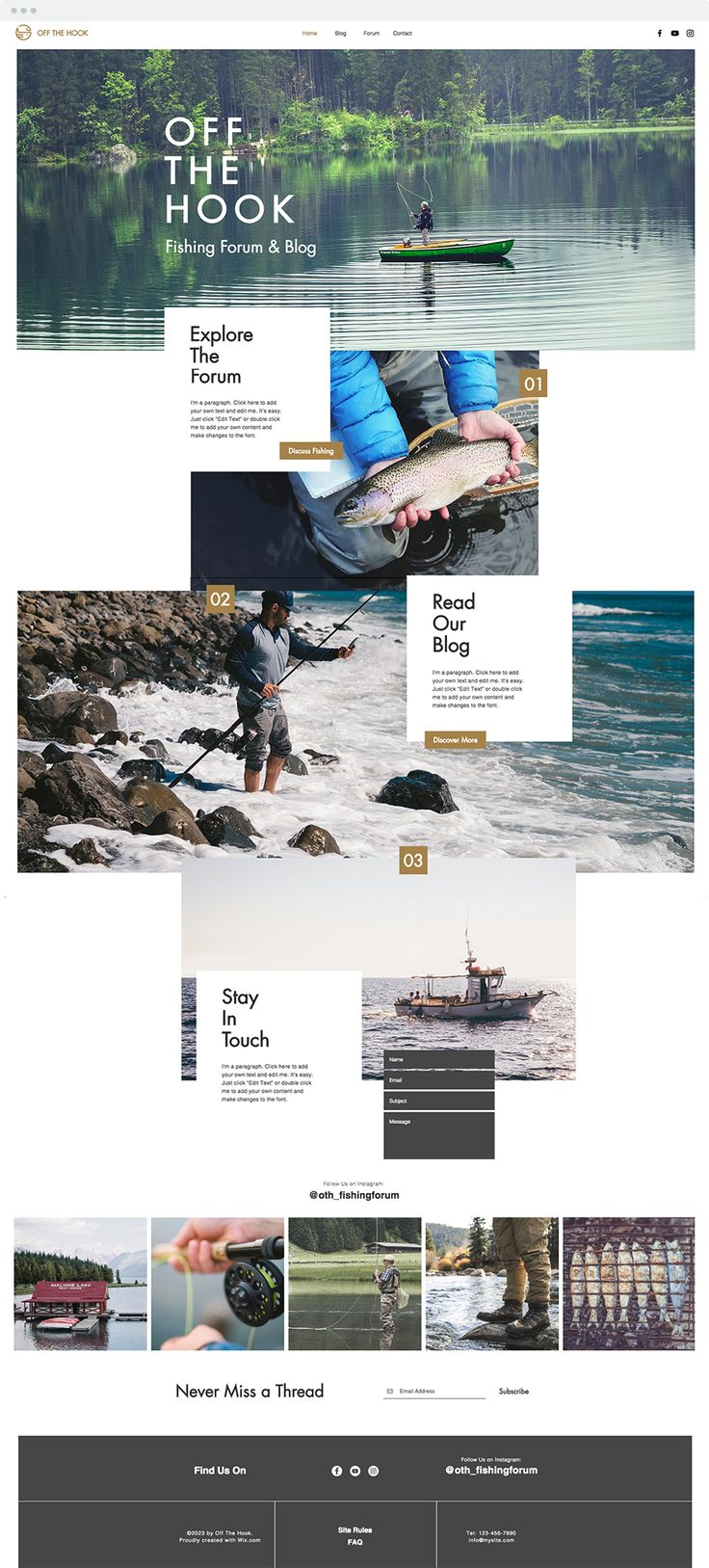 Fishing Forum Website Template | Website Templates