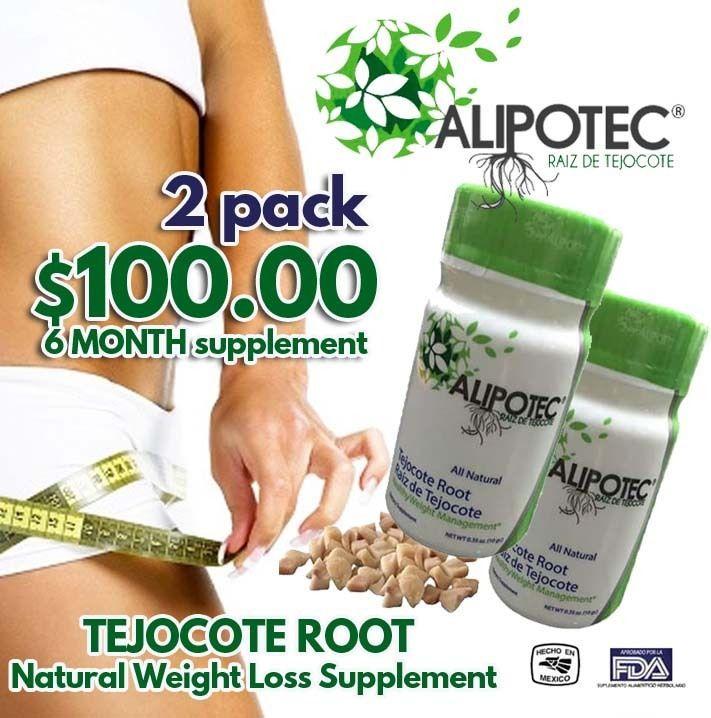 Alipotec Raiz de Tejocote 100% Natural Weight Loss 6 Month Supply ORIGINAL 2PACK