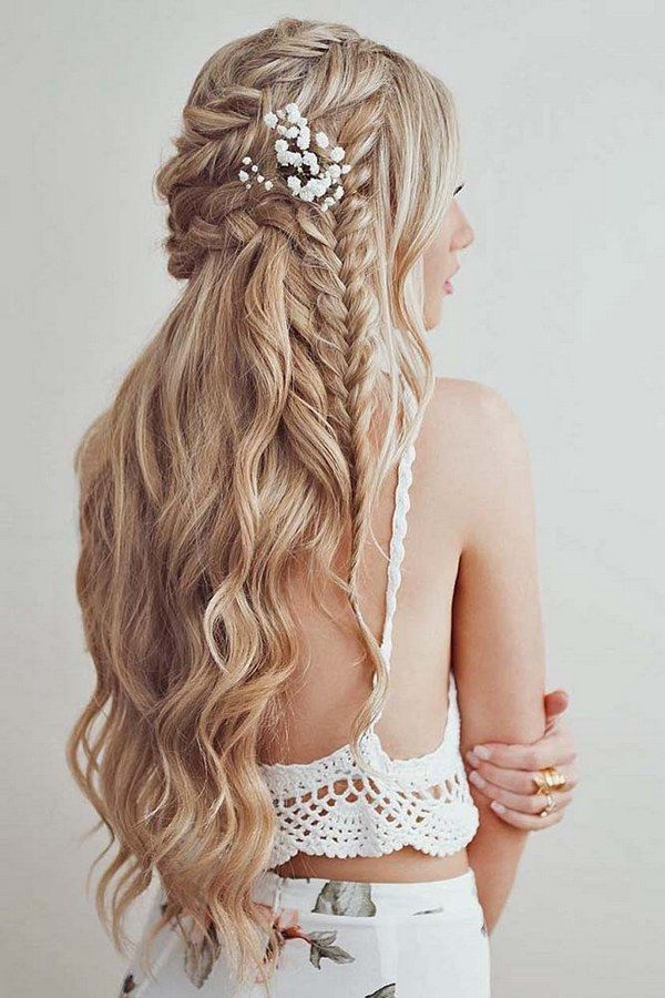 down styles for wedding hair 841 best beautiful hairstyles images on 9363 | cb7332c41558509b733366a87d2c3803 wedding hairstyles half up half down with flowers down wedding hairstyles