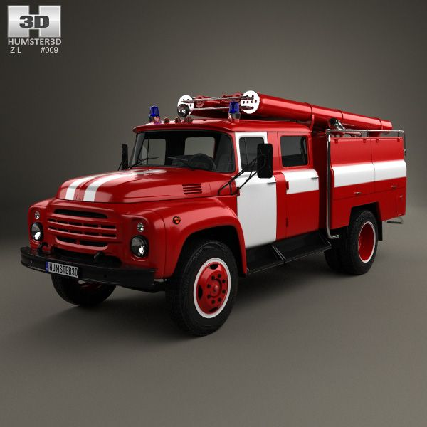 ZIL 130 Fire Truck 1970 3d model from humster3d.com. Price: $75