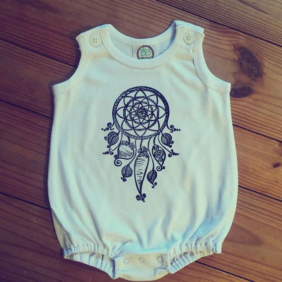 Dream catcher romper, Gender neutral baby/toddler romper, Sun bubble romper, Bohemian baby outfit, Summer baby clothes, Hipster baby outfit