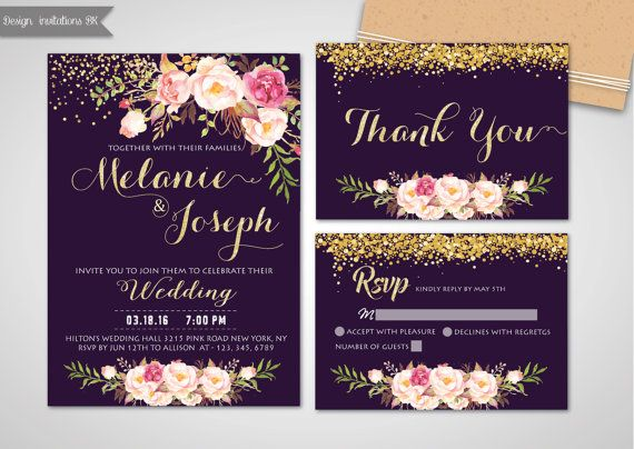Check out this item in my Etsy shop https://www.etsy.com/listing/481471723/printable-wedding-invitation-purple