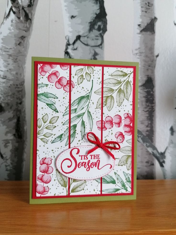 Stampin' Up! Forever Fern stamps with a sentiment from the
