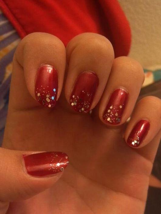 Nail art rosse per Capodanno 2014