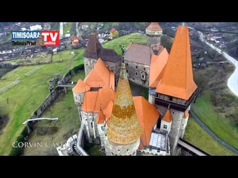 Castelul Corvinilor (Huniazilor) Hunedoara filmarea aeriana Amazing film...