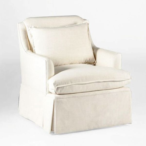 This Upholstered Swivel Chair Is Fully Skirted And Versatile Enough For A  Room With A TV