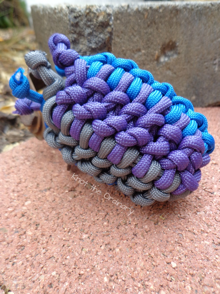 Paracord pouch knots practical decorative for How to make a paracord bag