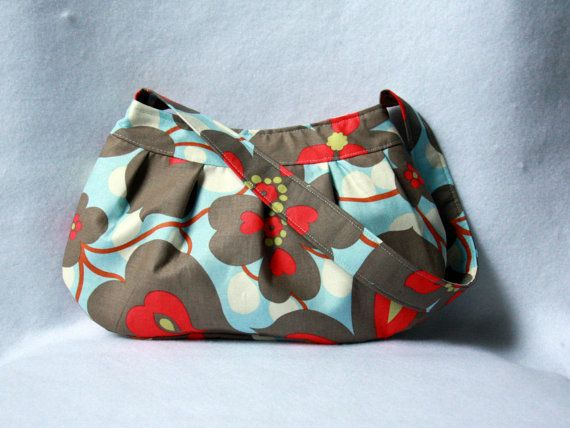 Buttercup Bag  Amy Butler Morning Glory by BarefootBagShop on Etsy:
