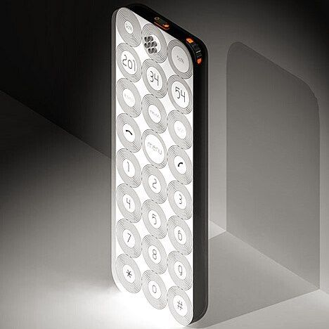 It is a concept of a mobile phone developed basing on the most modern technologies. The entire face surface of this phone is a colour sensor display 4.2 in. in diagonal (a TFT-matrix of 700 times; 266 pixels) protected with a 2-mm transparent plastic shield.  Buttons appearing on the display are 13 in diameter. They are convenient to press with a finger. Besides the virtual controls the telephone is equipped with a joystick. The standard position of the phone is vertical but it can be turned…