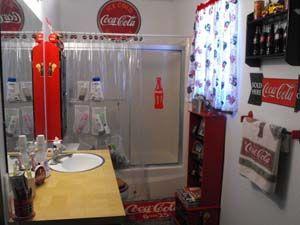 Coca cola bathroom google search things i love - Bathroom coca cola shower curtain ...
