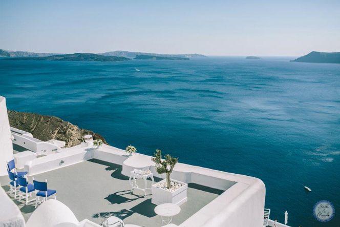 Santorini Wedding Venue | Destination Wedding by Stella and Moscha - Exclusive Greek Island Weddings | Photo by George Pahountis