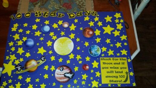 100 stars for 100 days of school project.