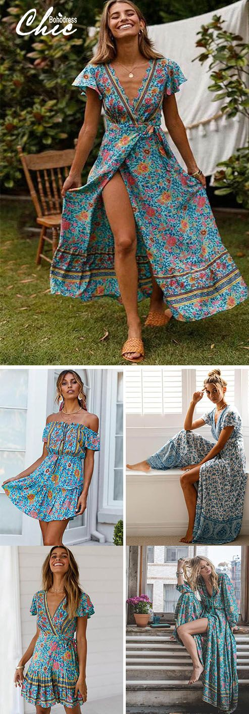 Spring Break Floral Dress Outfits Ideas