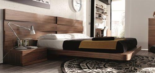 An ultra-modern contemporary bed